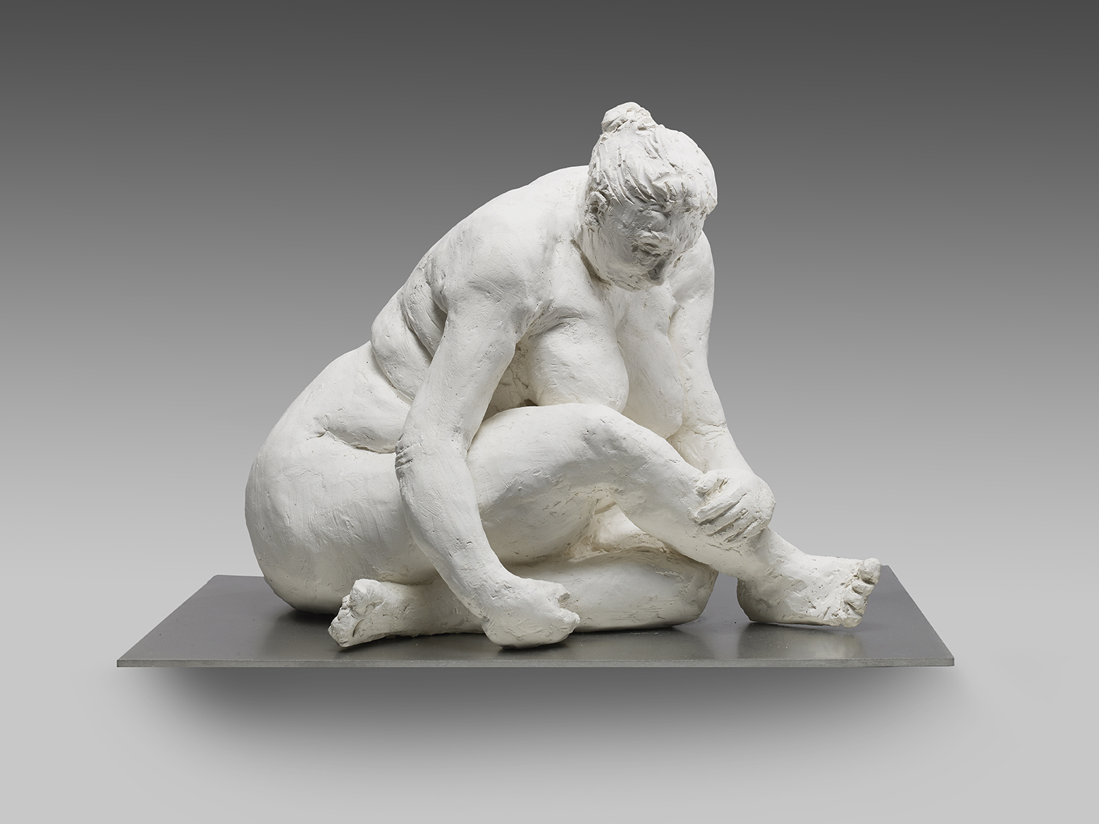 """""""Paolo Sitting"""", 2018, Plaster cast Edition of 6, L: 39 x H: 29 cms"""